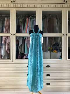 Turquoise long dress by mon & jong