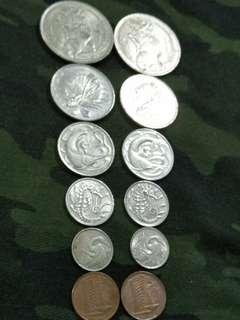 Sg old coins  2sets 12pcs offer $12 (88sets)