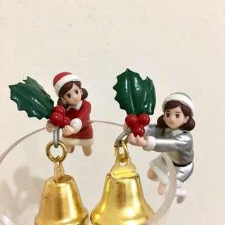 聖誕天使 一代 二代 聖誕節限定 聖誕鈴鐺杯緣子 聖誕老人杯緣子 聖誕老公公杯緣子 扭蛋 盒玩 🔔