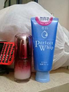 SHISEIDO ULTIMUN 30ml + FACE WASH
