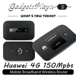 Huawei 4G CAT 4/LTE 150Mpbs Mobile Broadband Sim Card Pocket WiFi (International Version/ Unlocked)