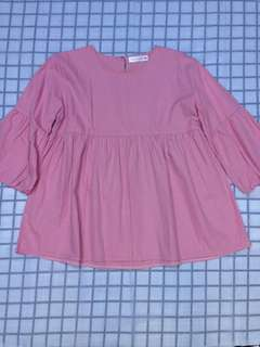 Blouse Pink Love Letter
