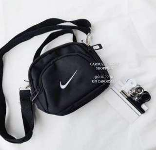 Nike Swoosh Embroidered Crossbody Sling Bag!