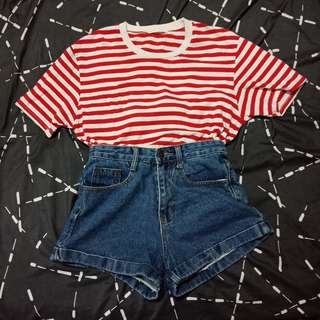 Red stripe tee