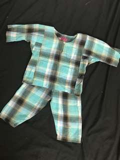 Baju Melayu Baby (0-6m)