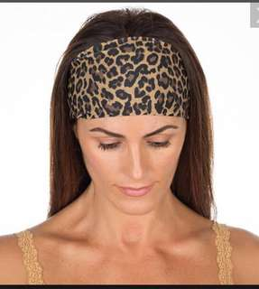Leopard Striped Yoga Headband Elastic Knotted Stretch Hair Band Casual Turban