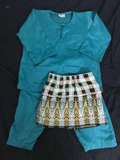Baju Melayu Budak + Sampin (1y)