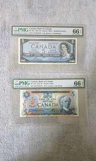Canada banknotes