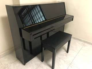 Yamaha piano with bench (model c108 made in Japan)