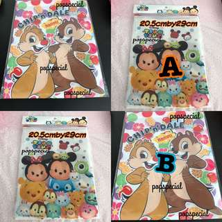 Disney Characters Chip and Dale OR Tsum Tsum Drawstring Pouch