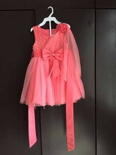 Dress Peach Super Cantik