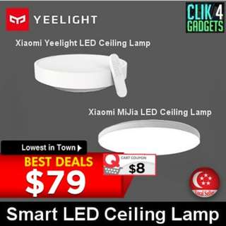 Xiaomi Yeelight Smart LED Ceiling Lamp / White Color / Export Set w 3 Mths Warranty