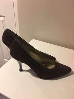 Bruno Magli Shoes. Suede with patent leather trim