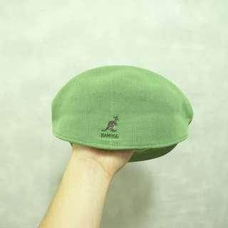 (保留)三件7折🎊 Kangol 袋鼠牌 貝雷帽 小偷帽 畫家帽 老帽 薄款 淺綠 老品 M~L 稀有 古著 Vintage