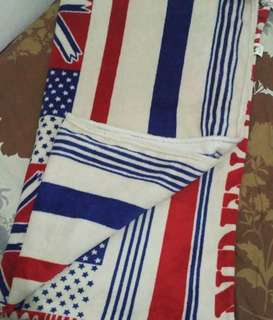 selimut bendera Amerika halus dan lembut