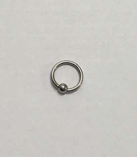 surgical stainless steel captive bead ring