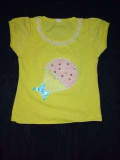 Baju kuning 12-18bln