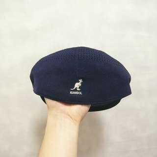 三件7折🎊 Kangol 袋鼠牌 貝雷帽 小偷帽 畫家帽 老帽 薄款 深藍 老品 L~XL 稀有 古著 Vintage