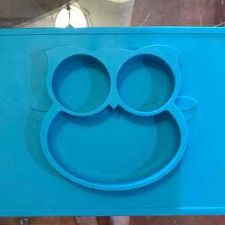 Cute Owl 2 in 1 Silicone Suction Placemat/Plate