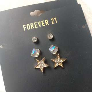 Forever21 3-pairs earring