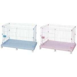 粉紅色滑門式狗籠
