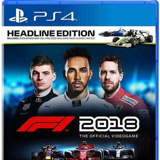 F1 2018 ( Formula 1 2018 )