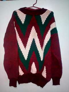 Maroon Knit Sweater/Pullover