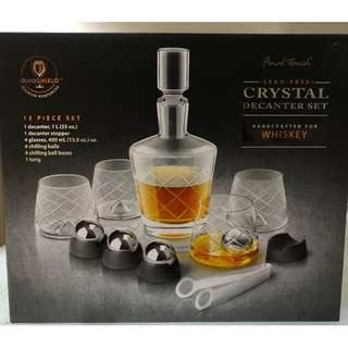 Final Touch - Crystal Whiskey Decanter Set