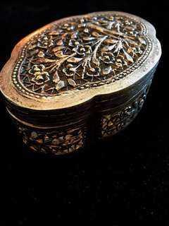 1950's-1960's (Mid) Old Straits Settlements Malayan Chinese Peranakan Pure Vintage Silver Very Beautiful & Exquisite Large Antique Box.
