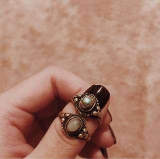 Boho Semi precious stoned Sterling Silver Rings