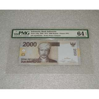 2009 2015 Indonesia Bank Indonesia 2000 Rupiah  PMG 64 EPQ Choice UNC