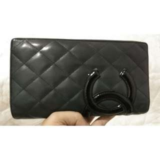PRELOVED AUTHENTIC CHANEL CAMBON WALLET - BLACK