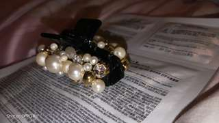 手工珍珠髮夾