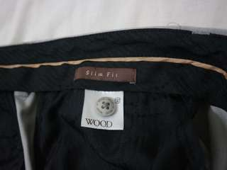 WOOD SLIM FIT PANTS