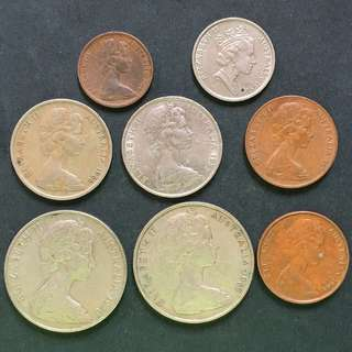 Australia small change 8 pieces of coins selling @ 2$
