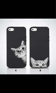 Curious Cat B Matte Soft Case for Iphone 5/5S/5SE 💖