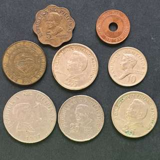 Philippines 8 pieces of coins selling @ 2$