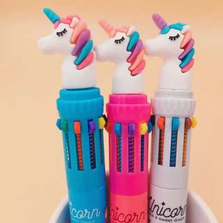 Unicorn multi coloured pens🦄🦄