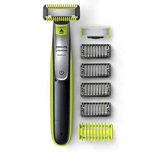 1328. Philips OneBlade Face + Body hybrid electric trimmer and shaver