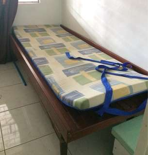Wooden Bed with Foam