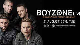 Boyzone 25th Anniversary concert (up to 4 seats available)