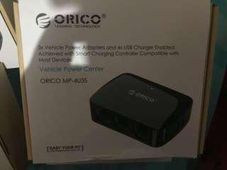 Orico smart car 4 port usb charger 34W with 3 cigarette lighter