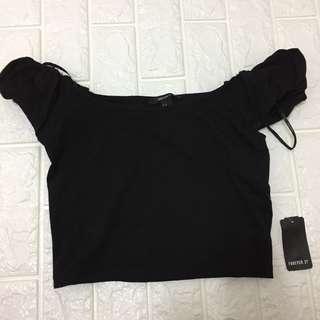 Forever 21 black off shoulder top