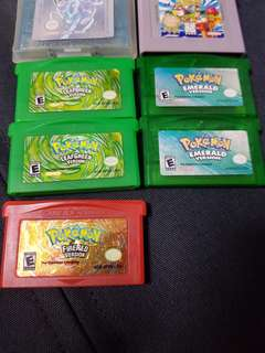 Authentic Gameboy pokemon cartridges and gameboy color berry red