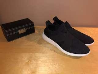 Men Aldo Black & White Slip-on Sneaker