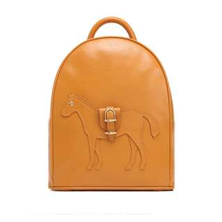 [NEW] Lapalette TAYLOR MINI BACKPACK Leather Bag Horse - Mustard