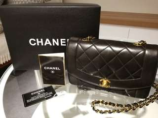 Chanel Diana Lambskin Flap Black
