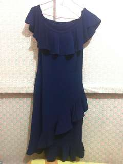Blue Off-Shoulder Dress 💙