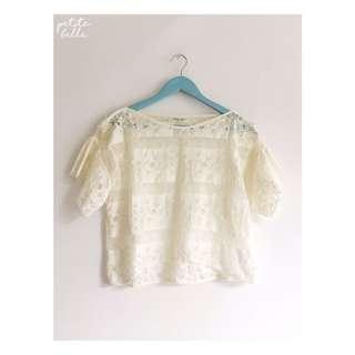 Broken White Lace Blouse #maudecay