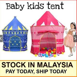 Baby Kids Foldable Castle Tent Playhouse
